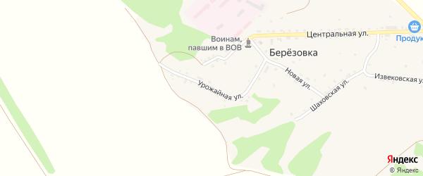Урожайная улица на карте поселка Березовки с номерами домов