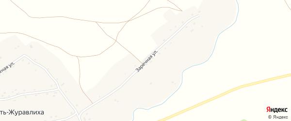 Заречная улица на карте села Усть-Журавлихи с номерами домов