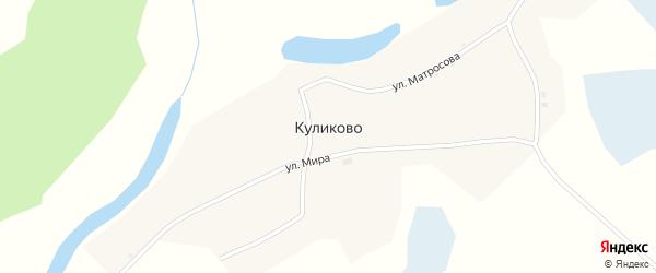 Боровой переулок на карте села Куликово с номерами домов