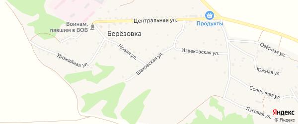Шаховская улица на карте поселка Березовки с номерами домов