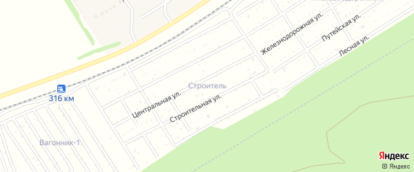 Северная улица на карте территории сдт Строителя с номерами домов