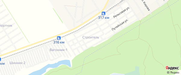 Карта территории сдт Строителя в Алтайском крае с улицами и номерами домов