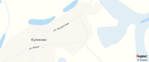 Улица Мира на карте села Куликово с номерами домов