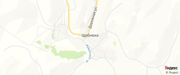 Карта села Щебнюхи в Алтайском крае с улицами и номерами домов