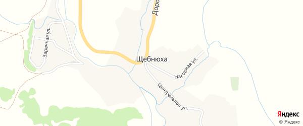 Заречная улица на карте села Щебнюхи с номерами домов