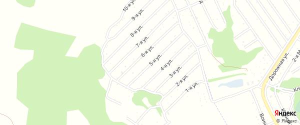 1-я улица на карте территории СДТ Урожайное с номерами домов
