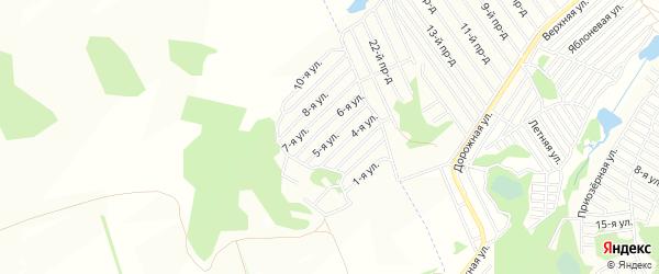 Карта территории СДТ Урожайное в Алтайском крае с улицами и номерами домов