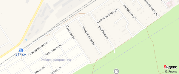 Элеваторная улица на карте поселка Новые Зори с номерами домов