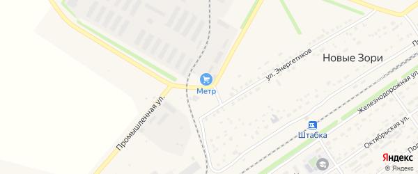 Промышленная улица на карте поселка Новые Зори с номерами домов