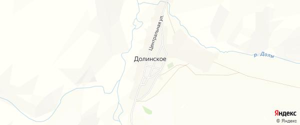 Карта Долинского села в Алтайском крае с улицами и номерами домов