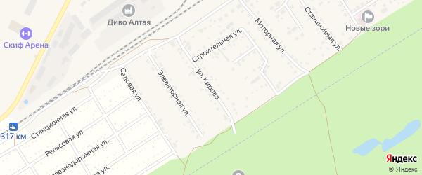 Улица Кирова на карте поселка Новые Зори с номерами домов