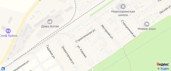 Строительная улица на карте поселка Новые Зори с номерами домов