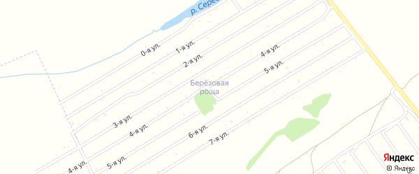 2-я улица на карте садового некоммерческого товарищества Березовой рощи с номерами домов
