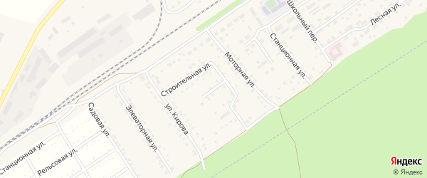 Непроездной переулок на карте поселка Новые Зори с номерами домов
