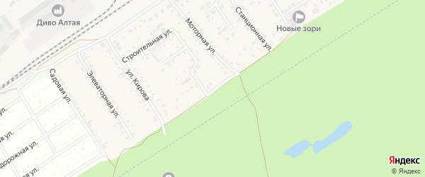 Боровая улица на карте поселка Новые Зори с номерами домов