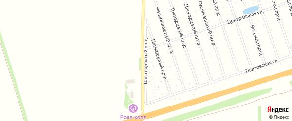 16-я улица на карте территории стд Дизеля с номерами домов