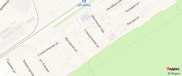 Станционная улица на карте территории сдт Железнодорожника с номерами домов