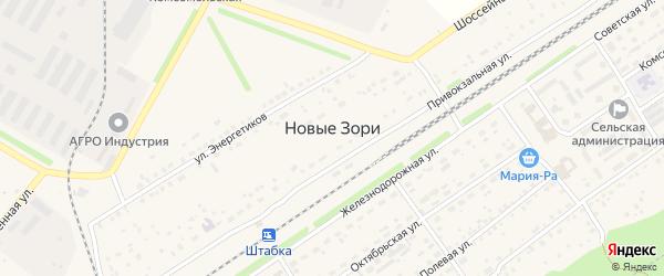 Цветной бульвар на карте поселка Новые Зори с номерами домов