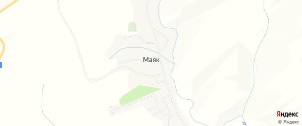 Карта села Маяка в Алтайском крае с улицами и номерами домов