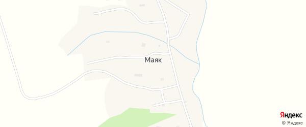 Центральная улица на карте села Маяка с номерами домов