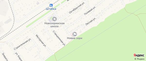 Юбилейная улица на карте поселка Новые Зори с номерами домов