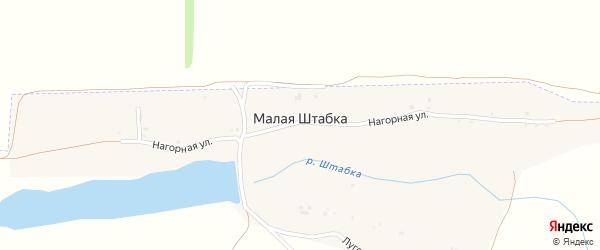 Нагорная улица на карте поселка Малой Штабки с номерами домов