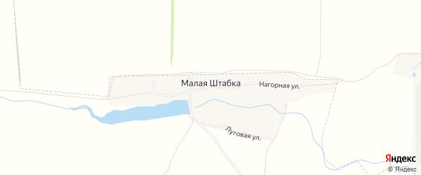 Карта поселка Малой Штабки в Алтайском крае с улицами и номерами домов