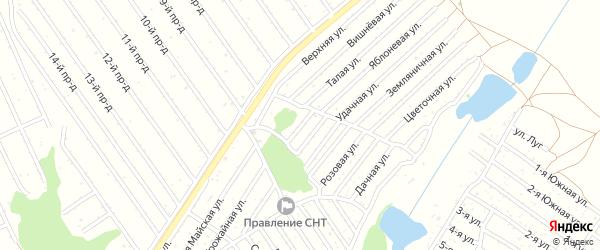 Зеленая улица на карте садового некоммерческого товарищества Полета с номерами домов