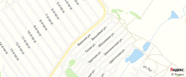 Вишневая улица на карте садового некоммерческого товарищества Полета с номерами домов
