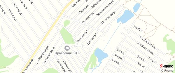 Ягодная улица на карте садового некоммерческого товарищества Полета с номерами домов