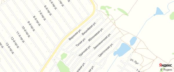 Талая улица на карте садового некоммерческого товарищества Полета с номерами домов