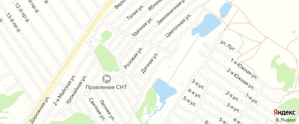 Дачная улица на карте садового некоммерческого товарищества Полета с номерами домов