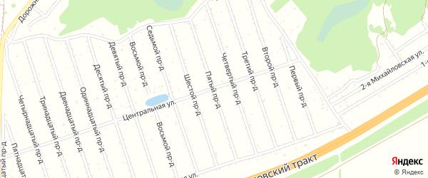 5-я улица на карте садового некоммерческого товарищества Березки с номерами домов