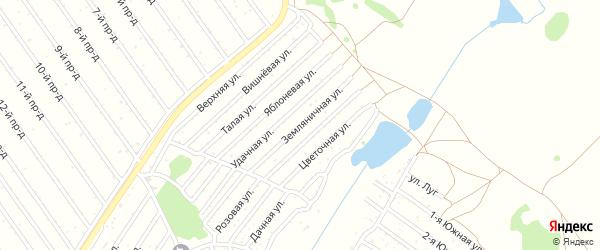 Земляничная улица на карте садового некоммерческого товарищества Полета с номерами домов