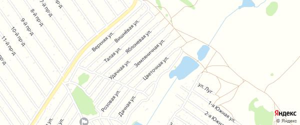 Майская улица на карте садового некоммерческого товарищества Полета с номерами домов