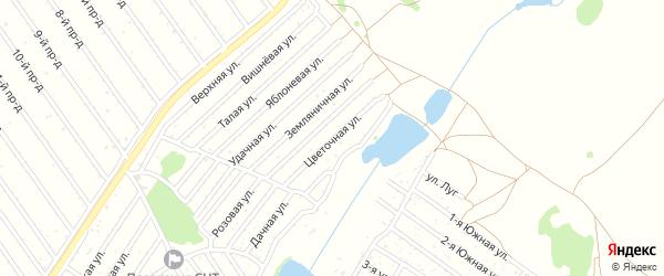 Цветочная улица на карте садового некоммерческого товарищества Полета с номерами домов