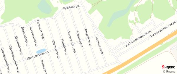 2-я улица на карте садового некоммерческого товарищества Березки с номерами домов