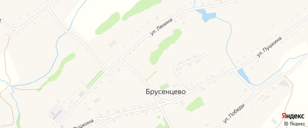 Полевая улица на карте села Брусенцево с номерами домов
