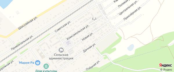 Новая улица на карте поселка Новые Зори с номерами домов