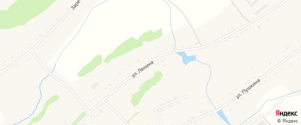 Улица Ленина на карте села Брусенцево с номерами домов