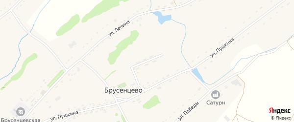Молодежная улица на карте села Брусенцево с номерами домов