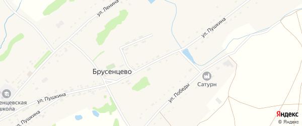 Улица Пушкина на карте села Брусенцево с номерами домов