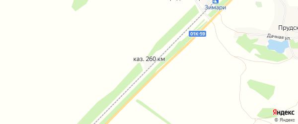 Карта железнодорожной казармы 260 км в Алтайском крае с улицами и номерами домов