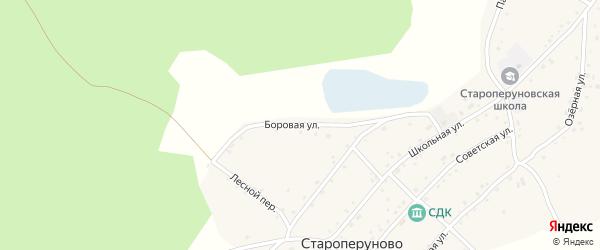 Боровая улица на карте села Староперуново с номерами домов