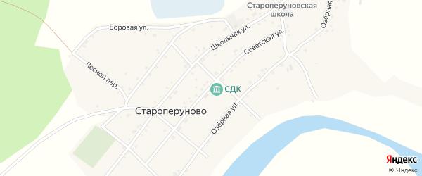 Советская улица на карте села Староперуново с номерами домов