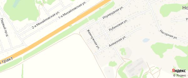 Жемчужная улица на карте поселка Новомихайловки с номерами домов