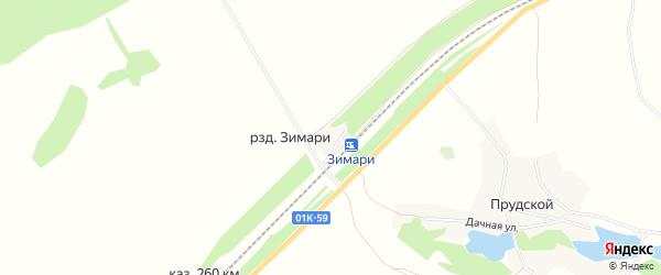 Карта разъезда Зимари в Алтайском крае с улицами и номерами домов