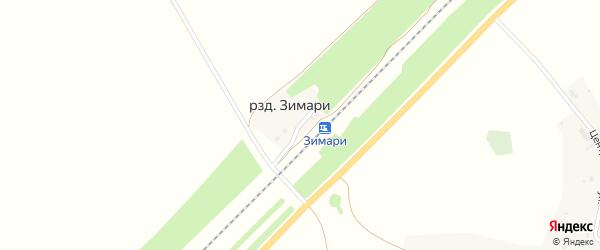 Железнодорожная улица на карте Шиловского разъезда с номерами домов