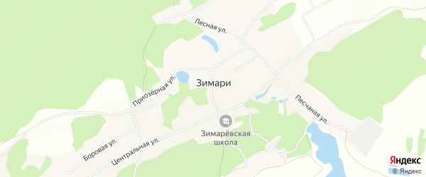Карта села Зимари в Алтайском крае с улицами и номерами домов