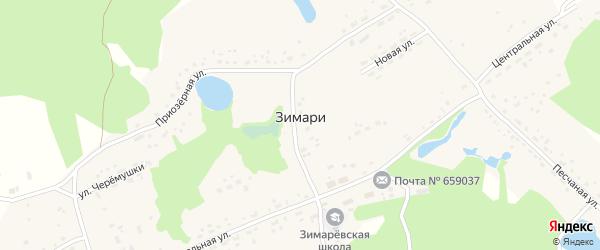 Усадебная улица на карте села Зимари с номерами домов